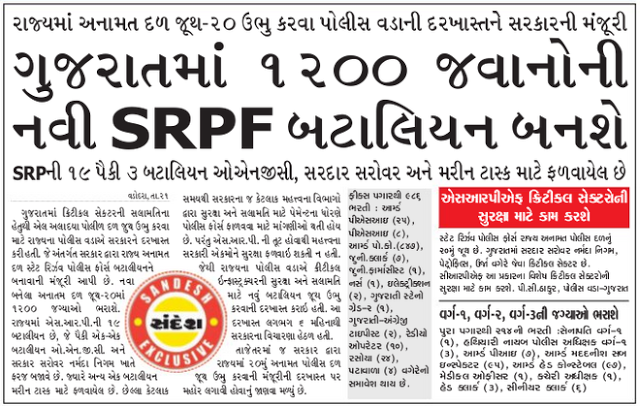 Coast Guard Pay Scale >> Gujarat SRPF Recruitment 2019 - 2020 1200 Various Post ...