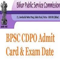 Bihar BPSC CDPO Admit Card 2019 - 2020 Download Hall Ticket, Exam