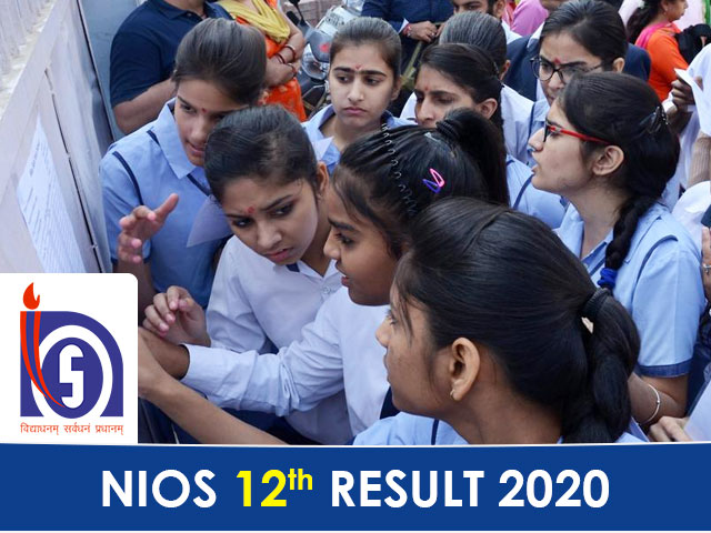 NIOS Board 12th Result 2020 declared at nios.ac.in
